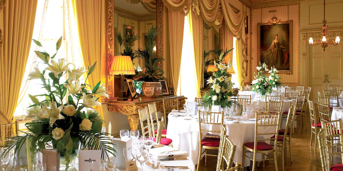 Beautiful Wedding Venue, The Yellow Drawing Room, Goodwood House, Prestigious Venues