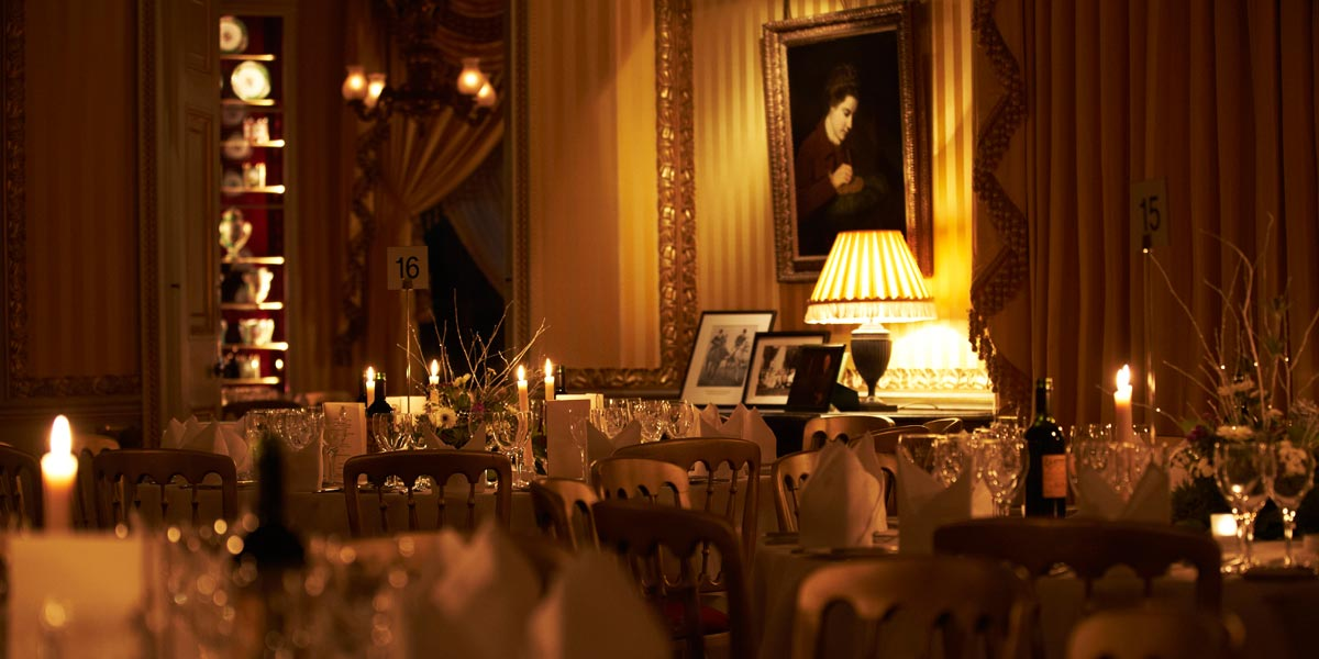 Gala Dinner Venue, The Yellow Drawing Room, Goodwood House, Prestigious Venues