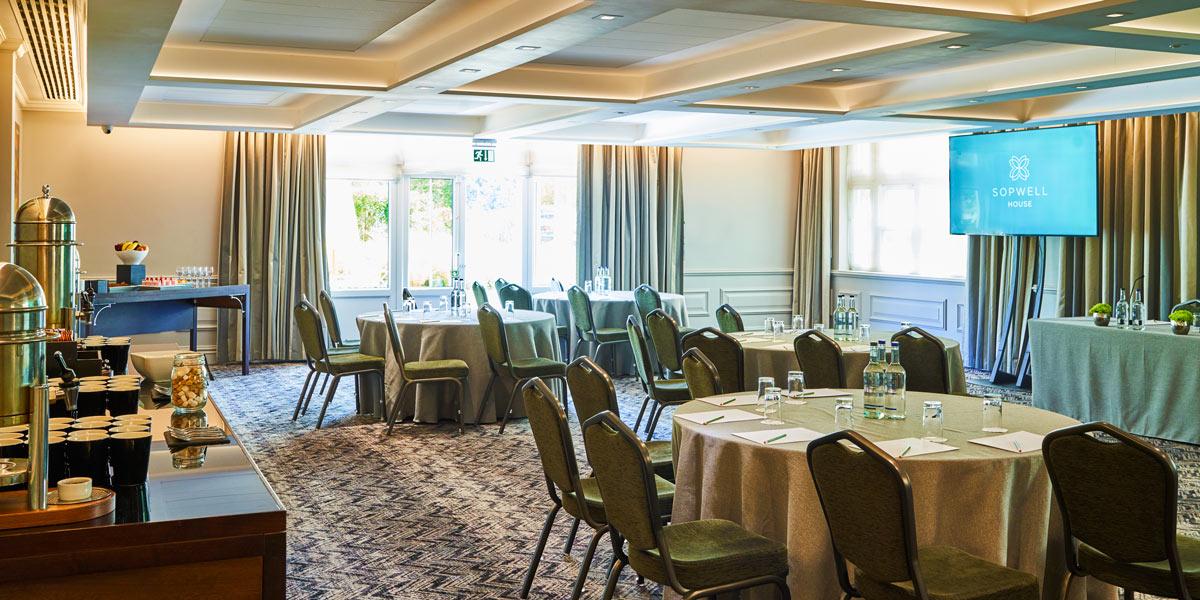 Cabaret Style Meeting Venue, Sopwell House, Prestigious Venues