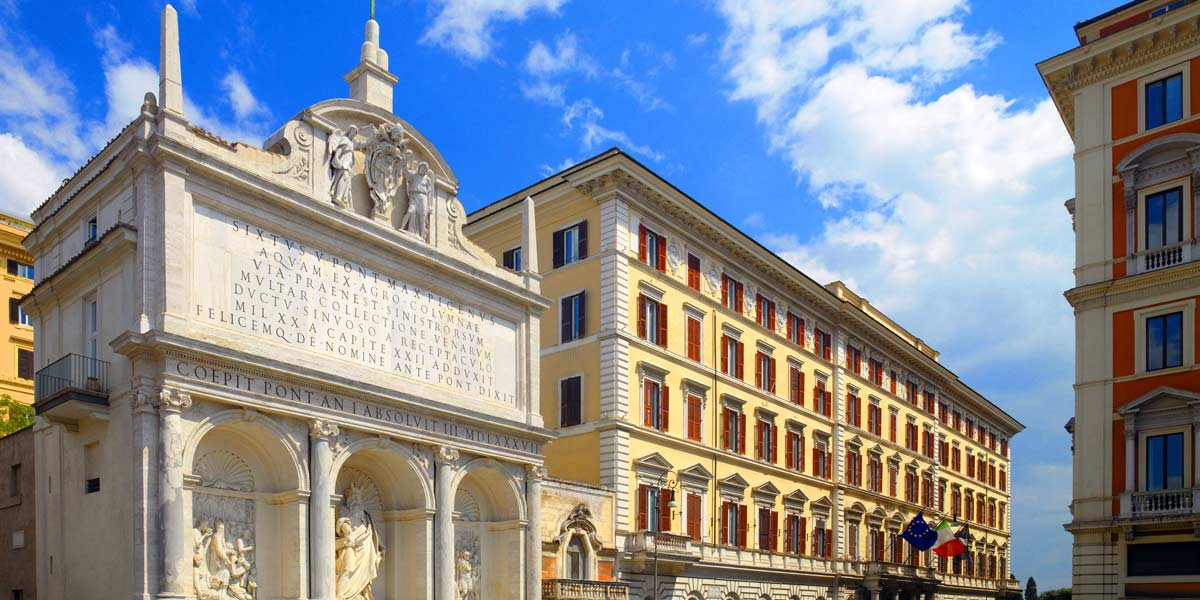 Historic Fountain Of Moses, The St. Regis Rome Event Spaces, St Regis Rome, Prestigious Venues