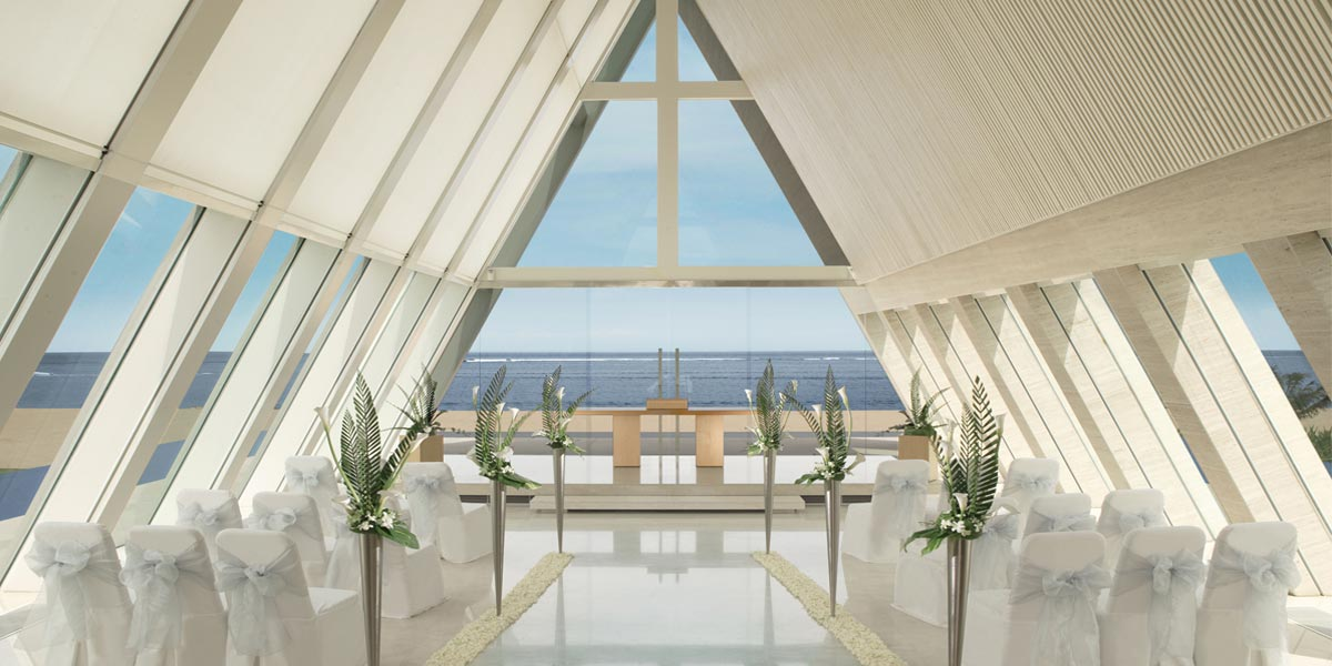 Infinity Wedding Chapel Venue, Conrad Bali, Prestigious Venues