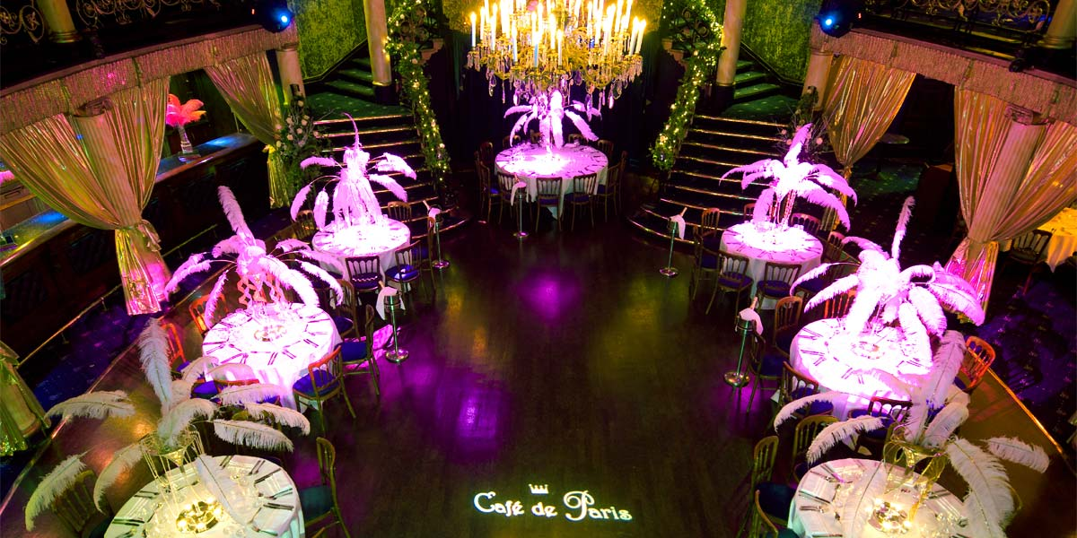 Private Dining Venue, Cafe De Paris, Prestigious Venues