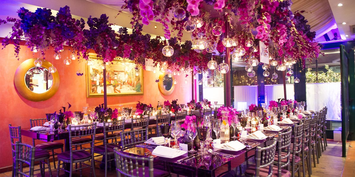 Birthday Party Venues, Birthday Event Flowers, Wildabout Flowers, Prestigious Venues