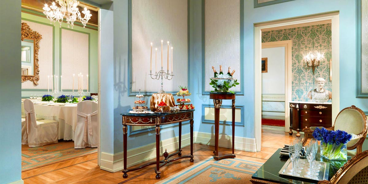 Diocletziano Room, St Regis Rome, Prestigious Venues