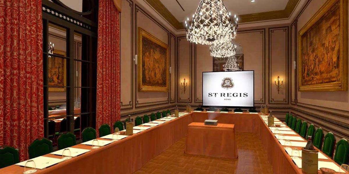 Hire A Conference Room In Rome, St Regis Rome, Prestigious Venues