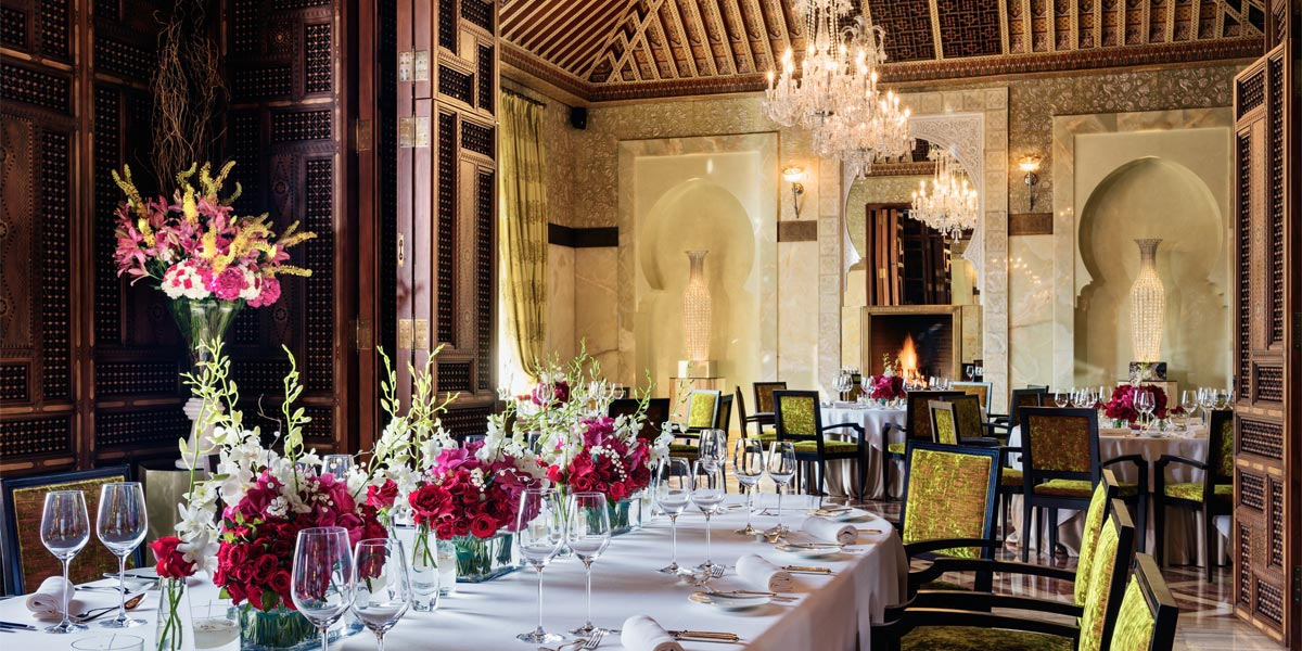 Luxurious Restaurant In Marrakech, Royal Mansour, Prestigious Venues
