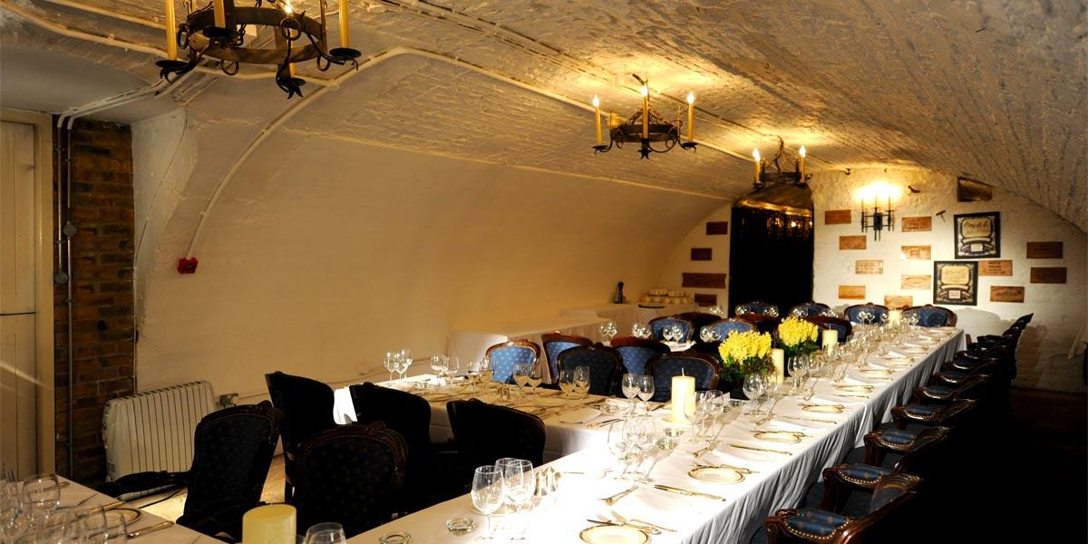 Private Dining In A Wine Cellar, The Stafford London, Prestigious Venues