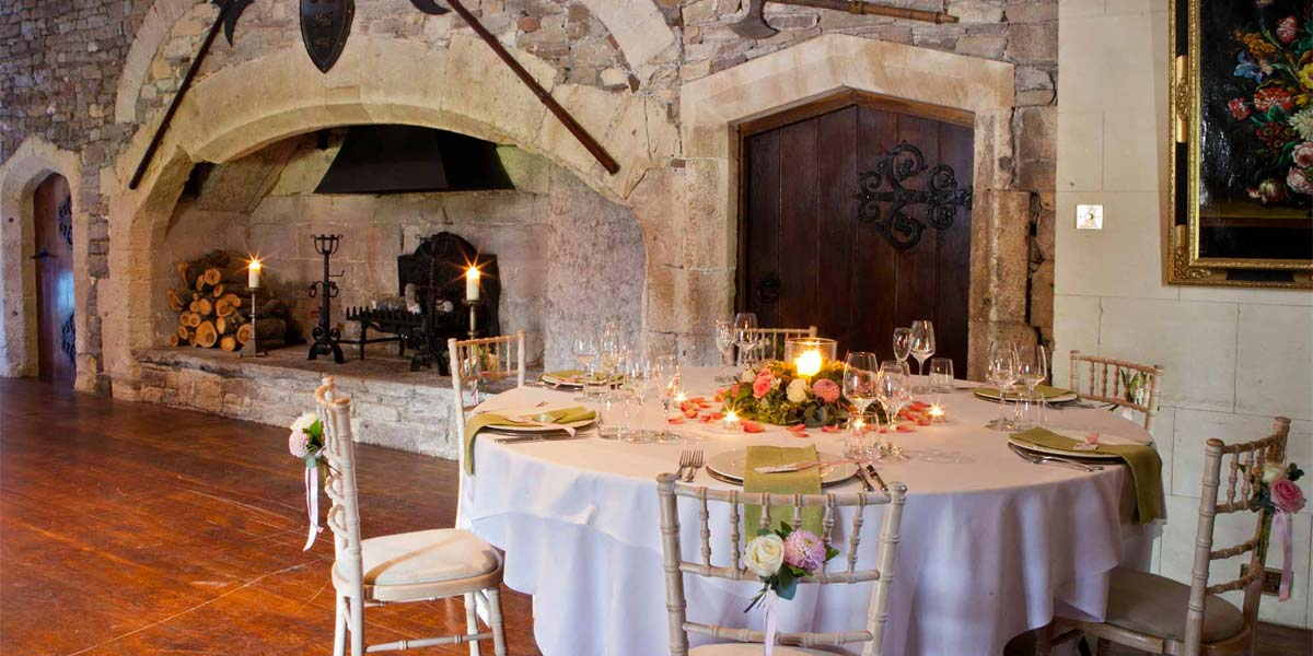 Wedding Ceremony In The Tudor Hall, Thornbury Castle, Prestigious Venues