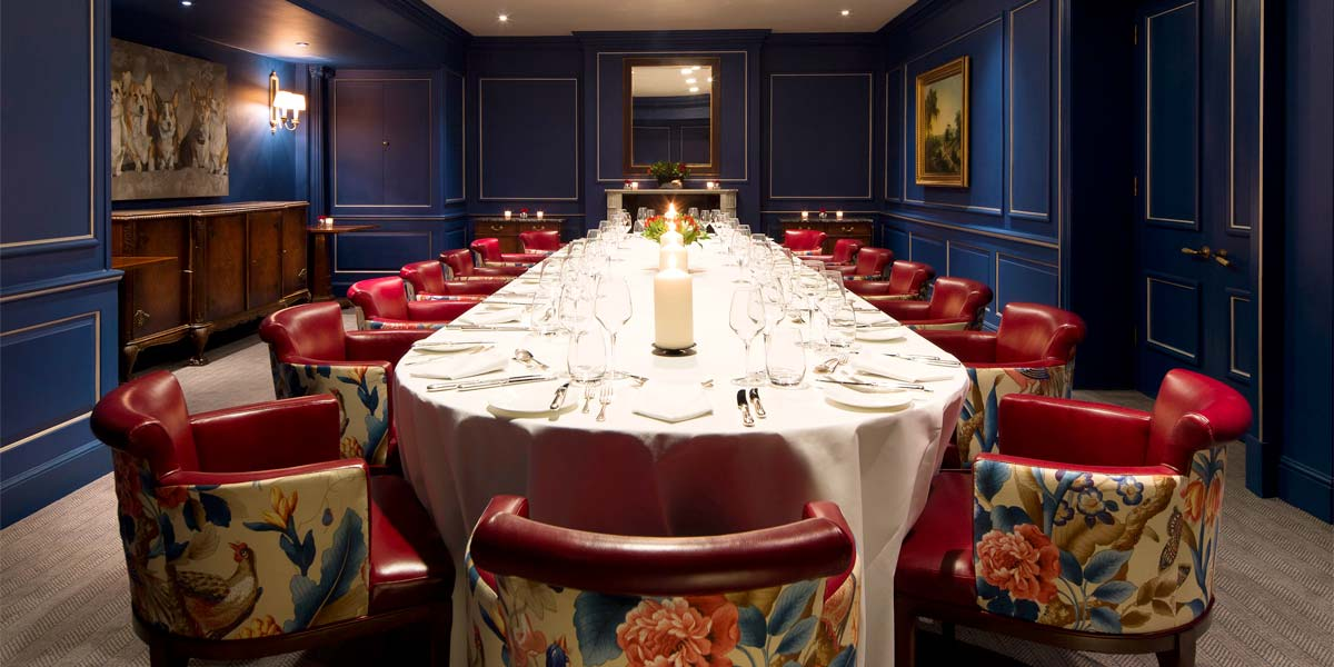 Private Dining in Mayfair, The Stafford London, Prestigious Venues