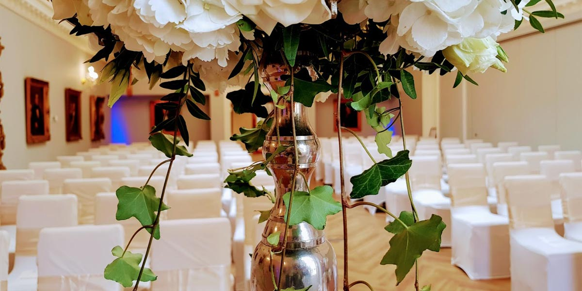 Wedding Ceremony Chapel, The Orangery, Rushton Hall Hotel And Spa, Prestigious Venues