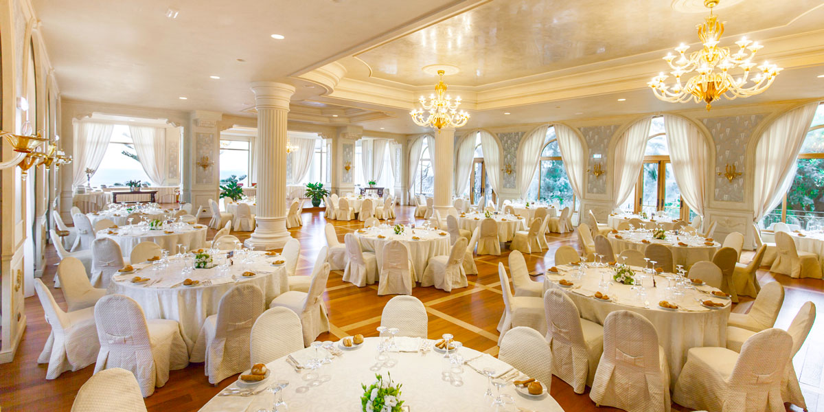 Ballroom in Taormina, Ballroom Venue For Weddings, Hotel Villa Diodoro, Prestigious Venues