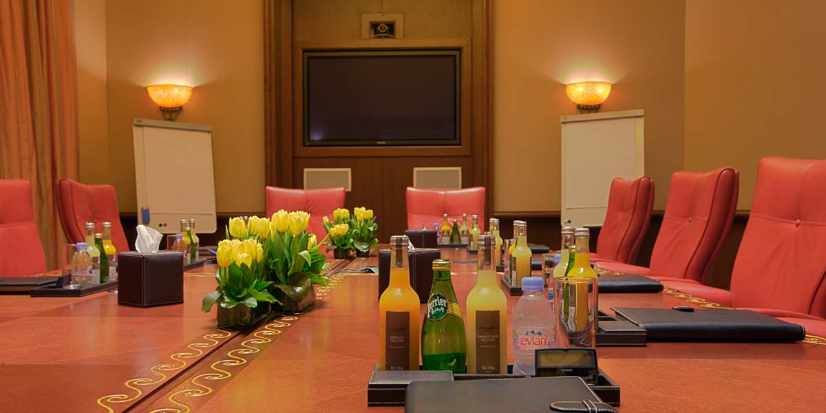 Atlas Boardroom Setup, Atlantis The Palm, Prestigious Venues