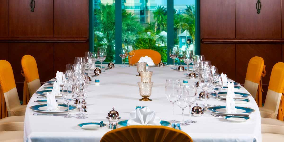 Board Room Set Up, Atlantis The Palm, Prestigious Venues
