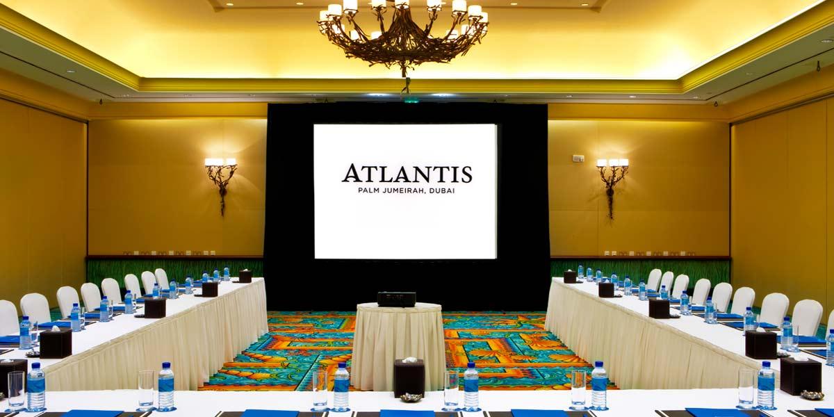 Silk Boardroom Conference Setup, Atlantis The Palm, Prestigious Venues