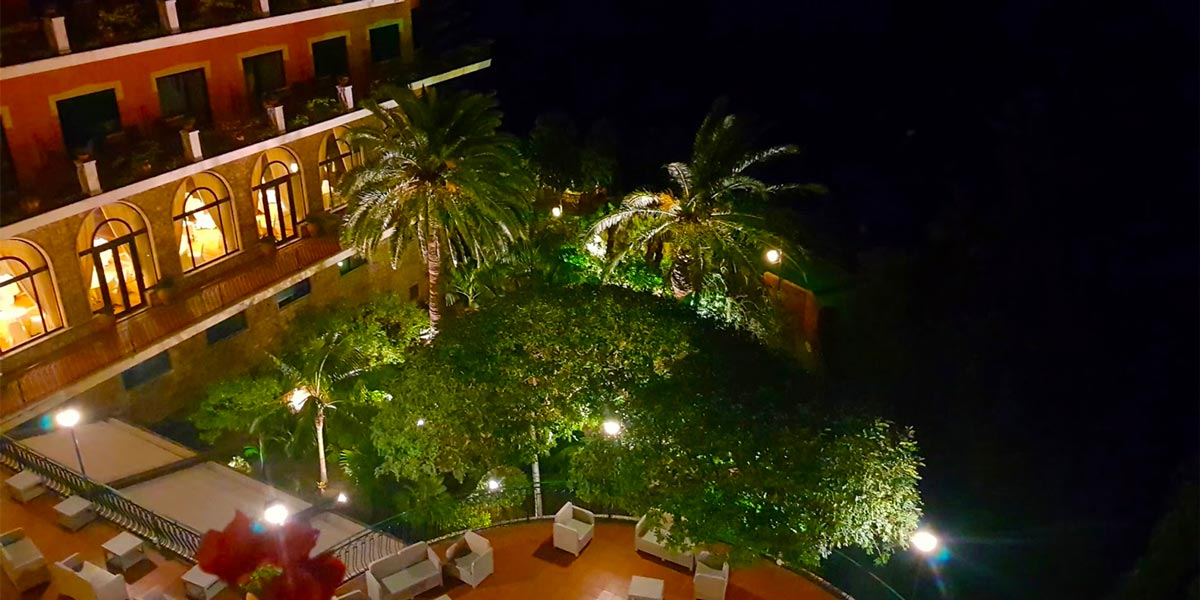 Evening View From The Balcony, Property Exterior, Hotel Villa Diodoro, Prestigious Venues