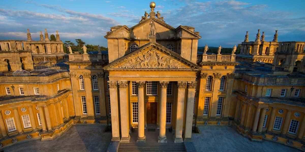 Great Court Aerial, Blenheim Palace, Prestigious Venues
