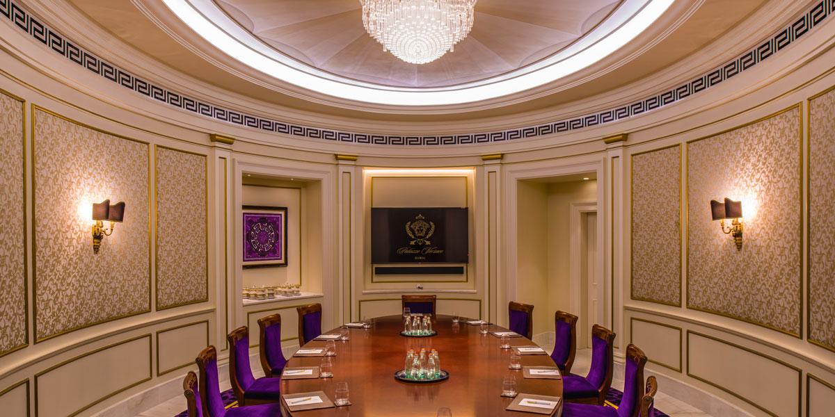Board Meeting Room, Palazzo Versace Dubai, Prestigious Venues