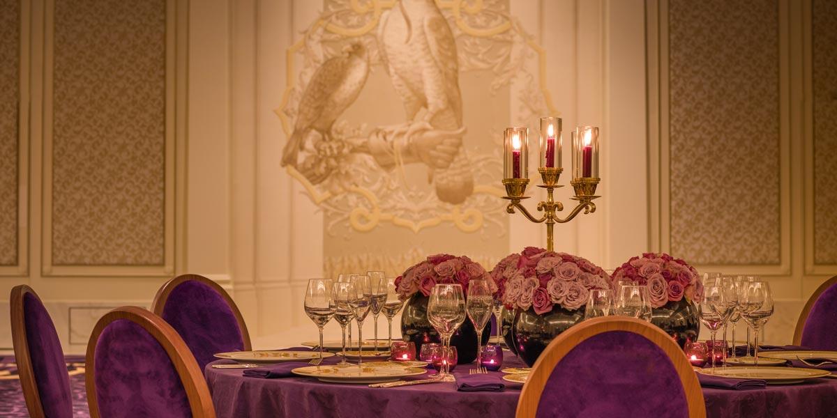 Gala Dinner Setup, Palazzo Versace Dubai, Prestigious Venues