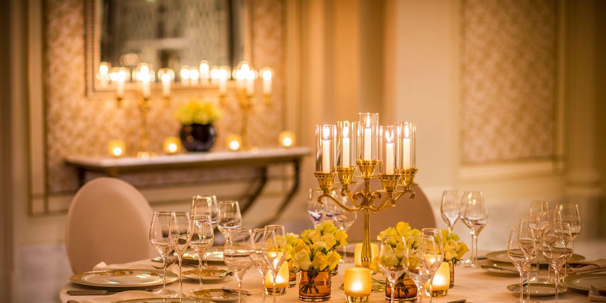 Pre function Dining Setup, Palazzo Versace Dubai, Prestigious Venues
