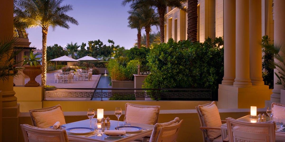 Outdoor Private Dining Space, Palazzo Versace Dubai, Prestigious Venues