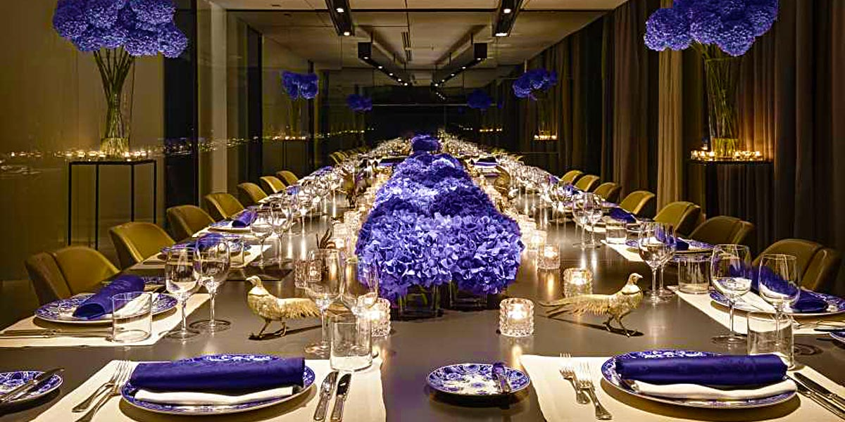 Corporate Event Space, Gala Dinner Venue, Blue Room, Conservatorium Hotel, Prestigious Venues