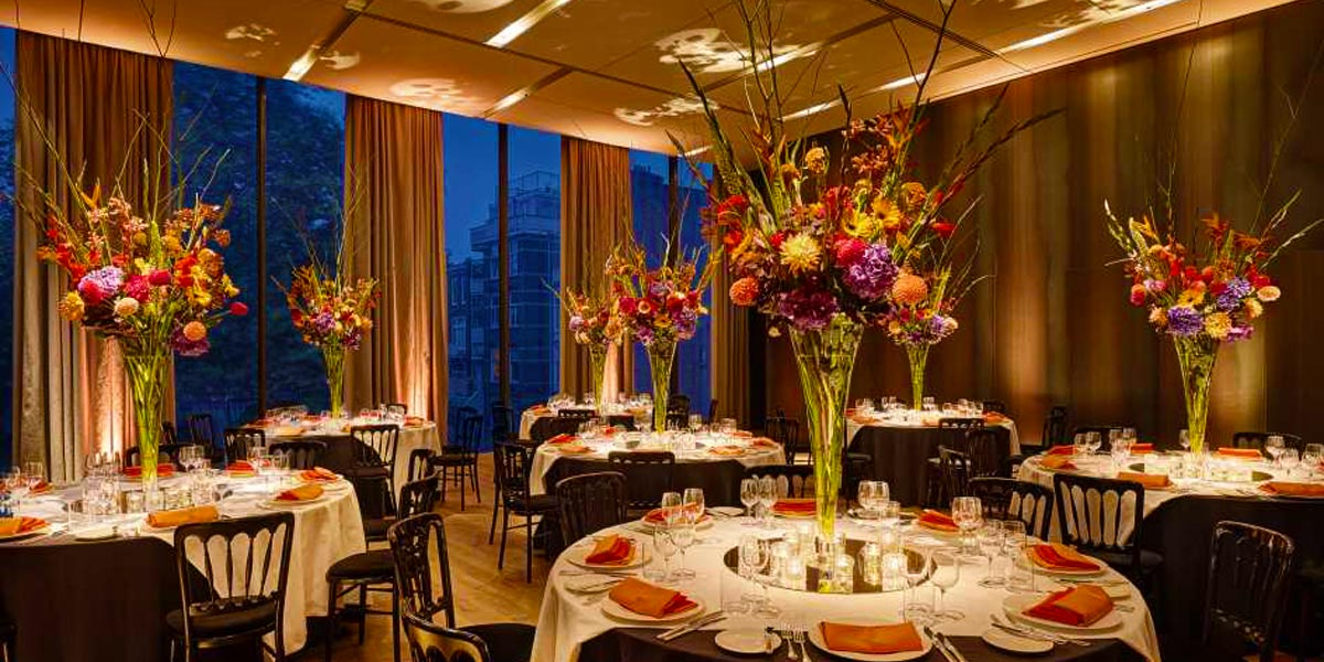 Gala Dinner Venue in Amsterdam, Event Spaces in Amsterdam, Symphony Room, Conservatorium Hotel, Prestigious Venues