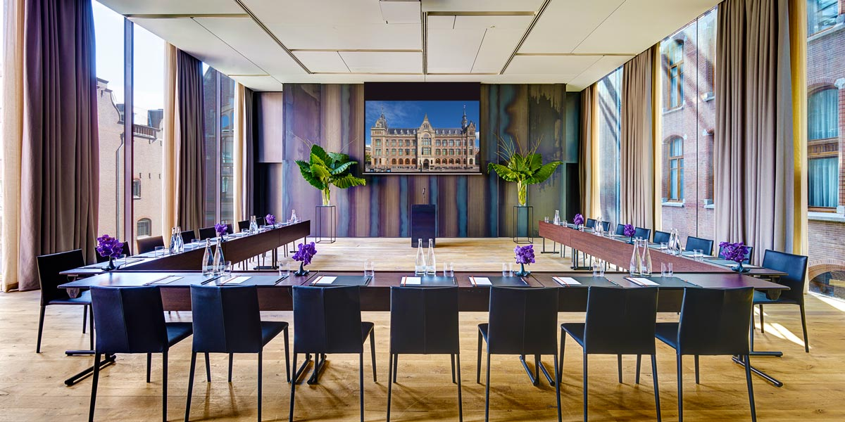 Conference Venue, Event Spaces in Amsterdam, Presentation Venue, Symphony Room, Conservatorium Hotel, Prestigious Venues