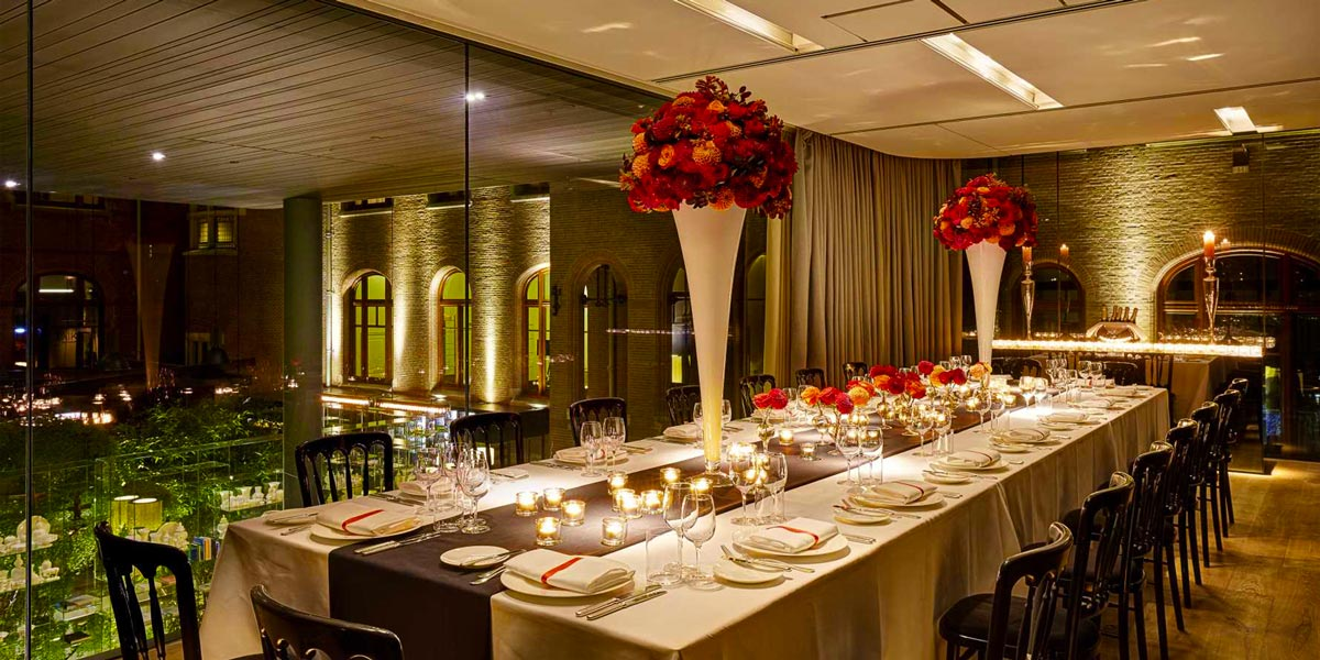 Corporate Dinner Venue, Private Dining Space, Harmony Room, Conservatorium Hotel, Prestigious Venues