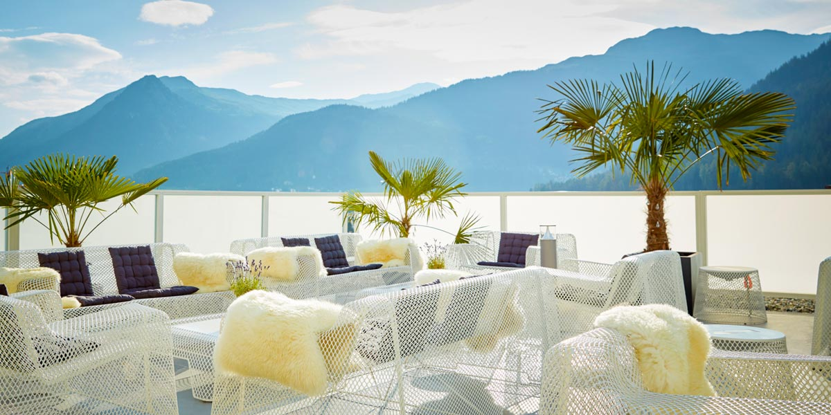 The 5th Rooftop Terrace Venue, Hard Rock Hotel Davos, Prestigious Venues