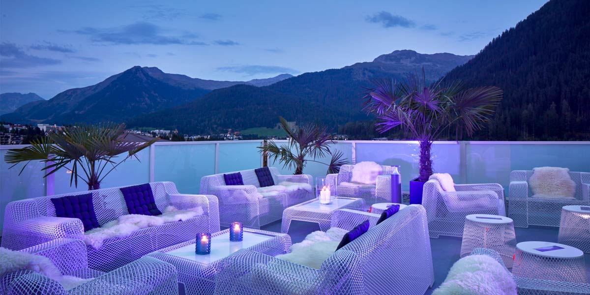 Views From The Terrace By Night, Hard Rock Hotel Davos, Prestigious Venues