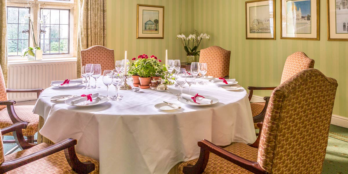 Corporate Private Dining Room, Lucknam Park Hotel & Spa