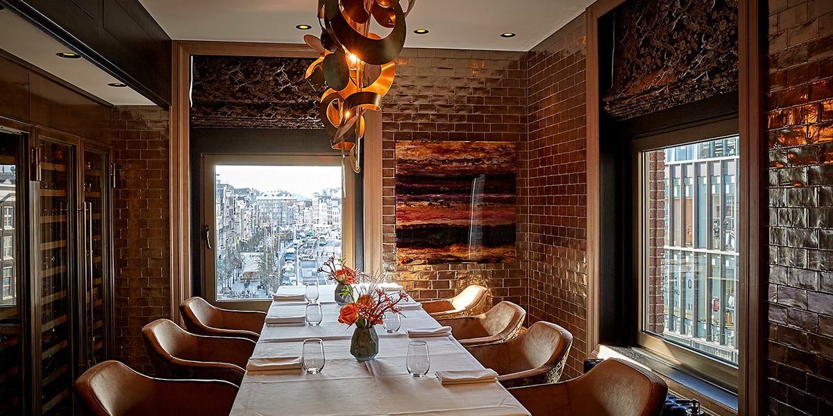 Private Chefs Table in Amsterdam, Hotel TwentySeven, Prestigious Venues