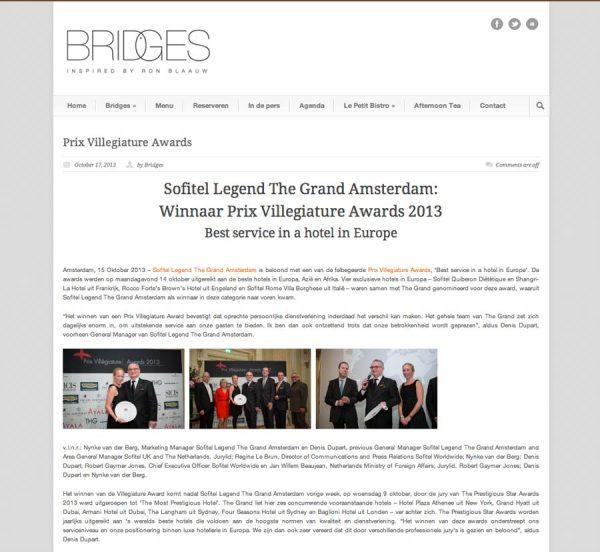 Bridges, Prestigious Star Awards 2014, Press Coverage
