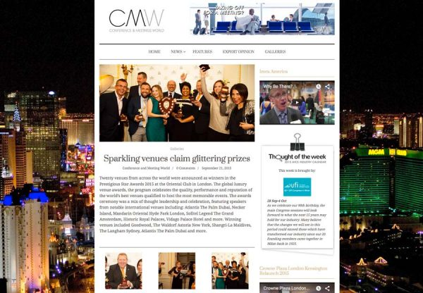 CMW, Prestigious Star Awards 2015, Press Coverage