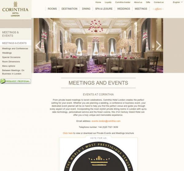 Corinthia Hotel London, Prestigious star Awards 2016, Press Coverage