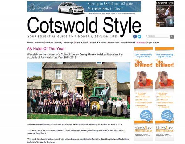 Cotswold Style, Prestigious Star Awards 2014, Press Coverage