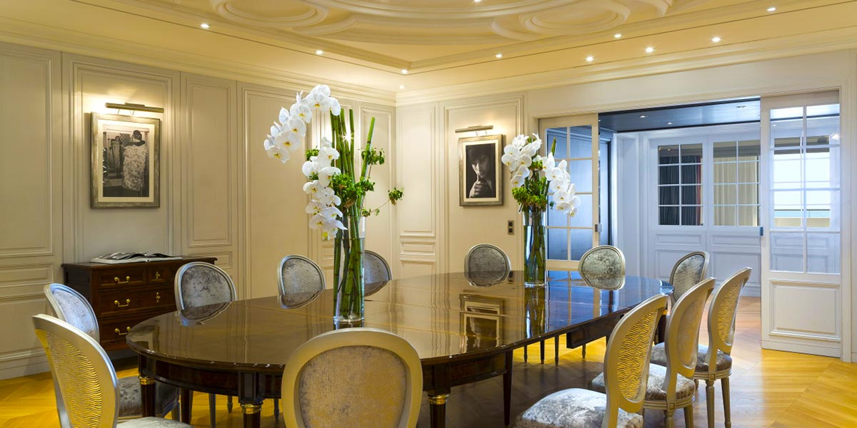 Dior Suite Event Spaces, Hotel Barriere Le Majestic Cannes, Prestigious Venues