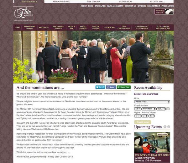 Elite Hotels, Prestigious Star Awards 2012, Press Coverage