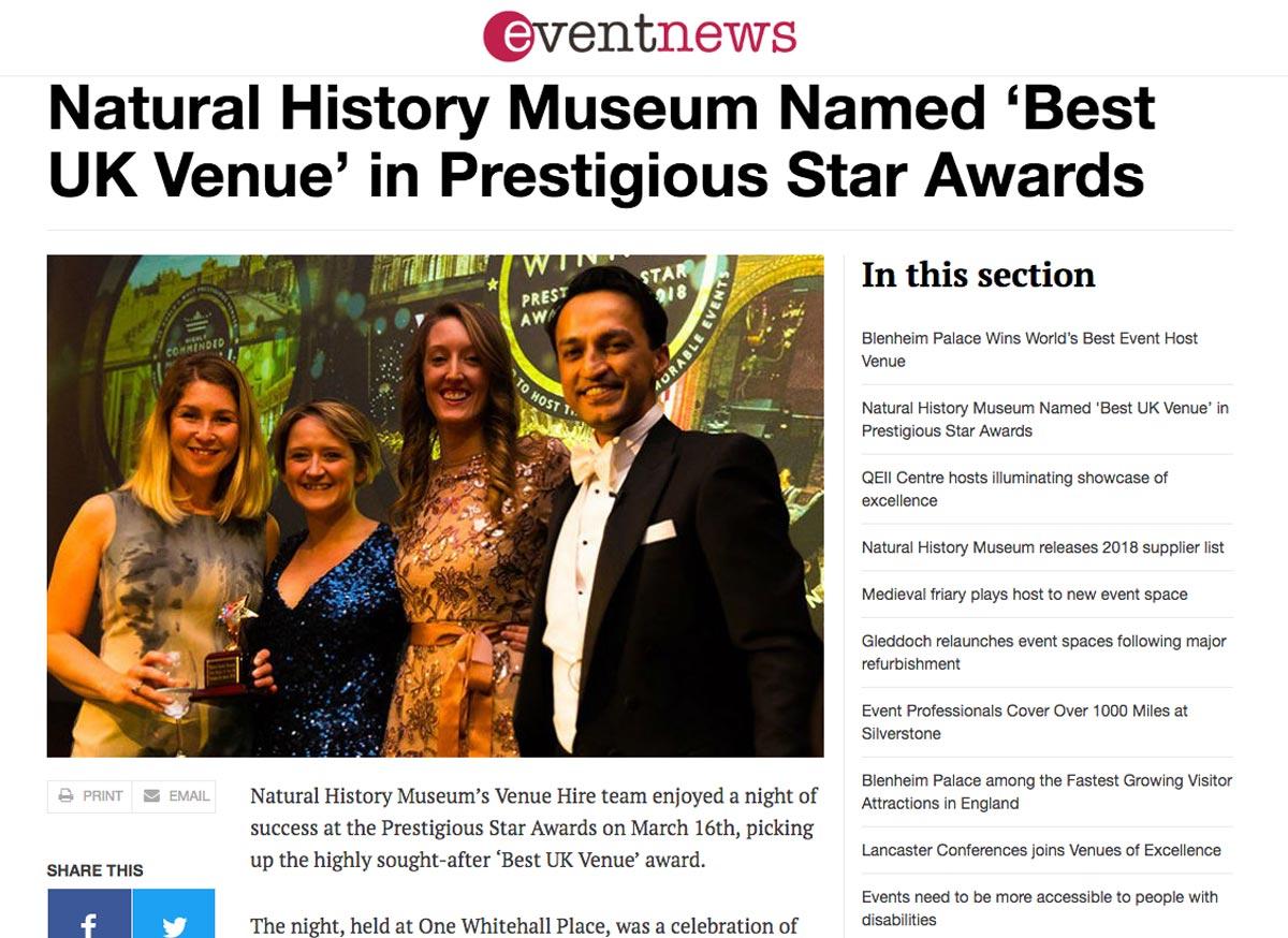Event News, Prestigious Star Awards 2017 2018