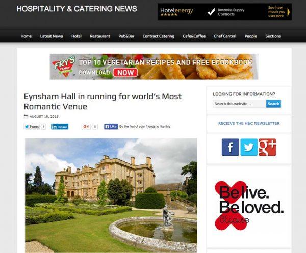 Hospitality & Catering News, Prestigious Star Awards 2015, Press Coverage
