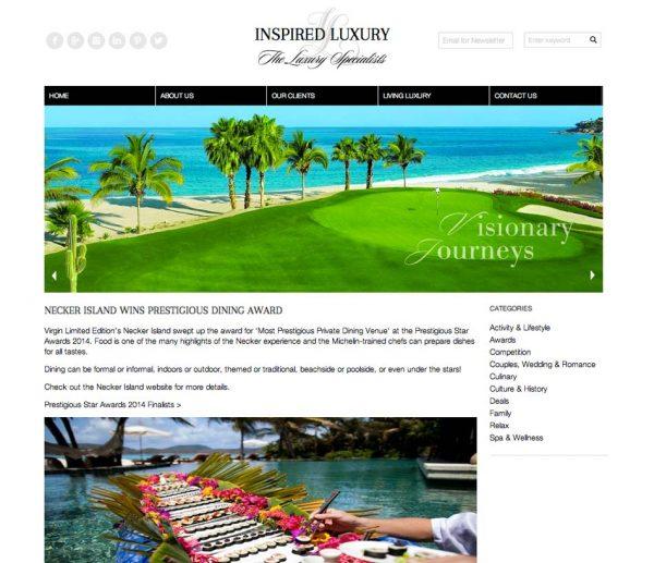 Inspired Luxury, Prestigious Star Awards 2014, Press Coverage