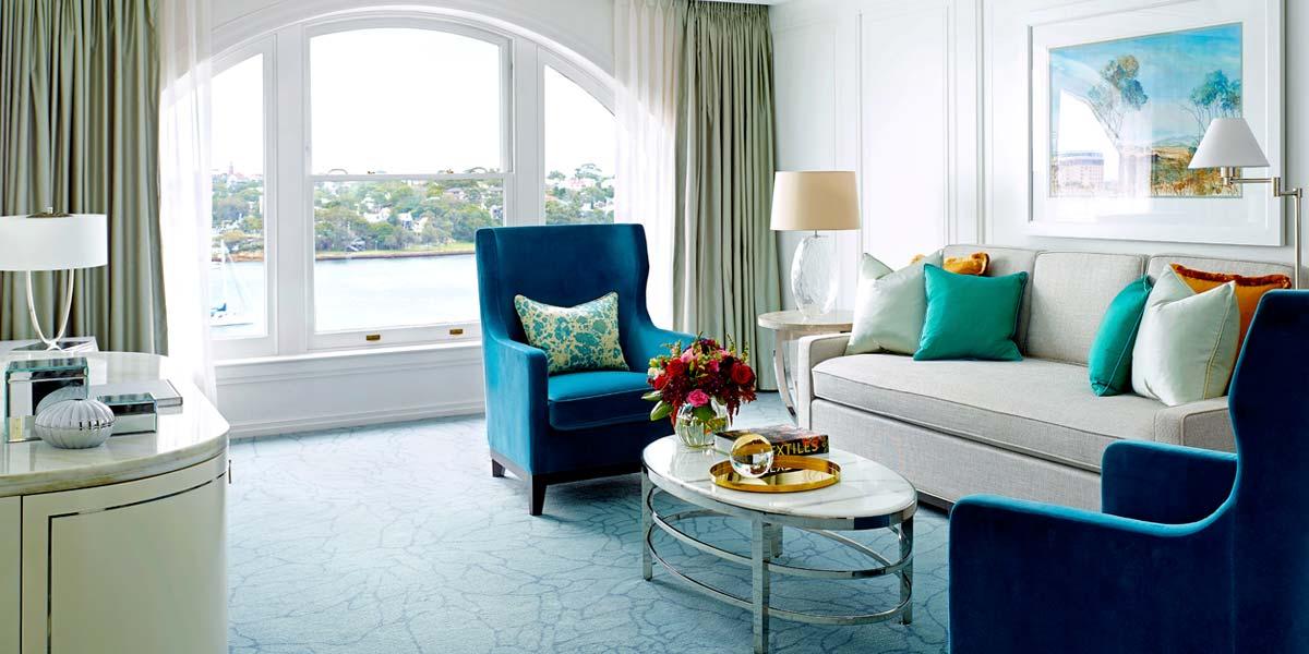 Langham Suite Living Area, The Langham Sydney, Prestigious Venues