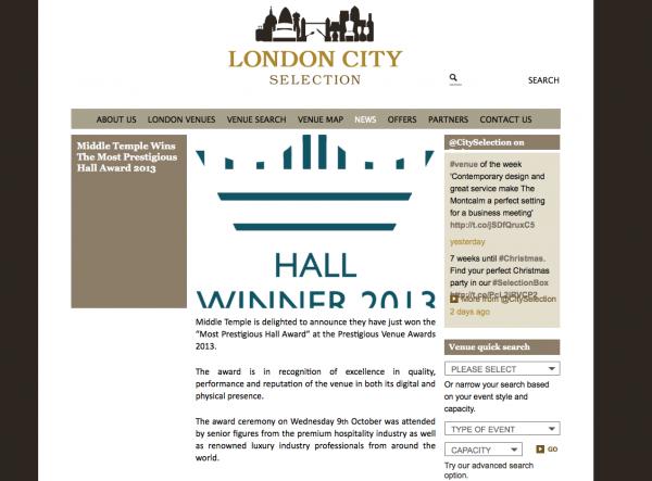London City Selection, Prestigious Star Awards 2013, Press Coverage
