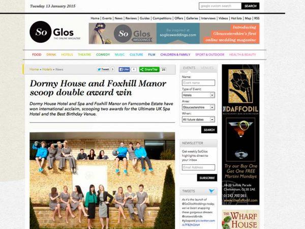 So Glos, Prestigious Star Awards 2014, Press Coverage