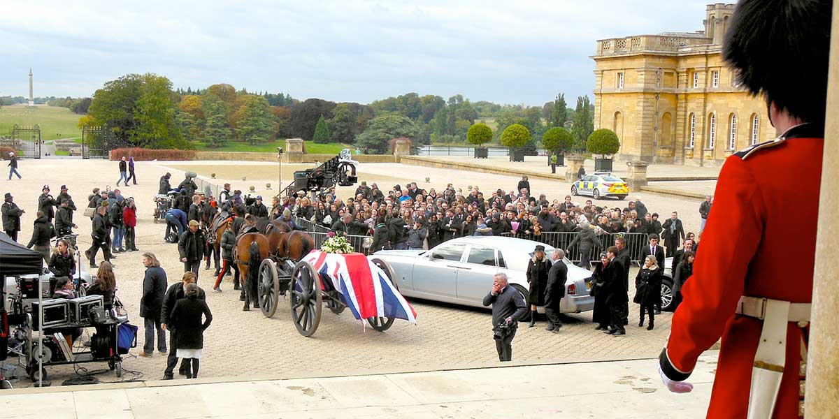 The Royals Film Location, Blenheim Palace, Prestigious Venues