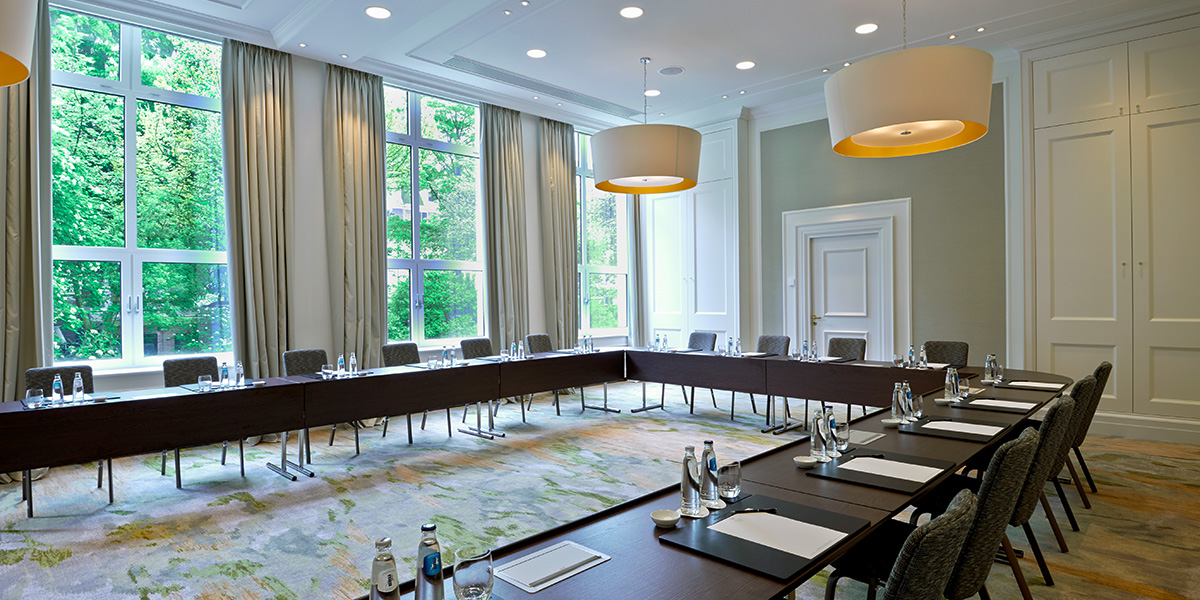 U Shaped Meeting Room, Waldorf Astoria Amsterdam, Prestigious Venues