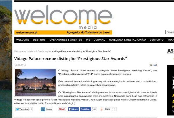 Welcome Media, Prestigious Star Awards 2014, Press Coverage