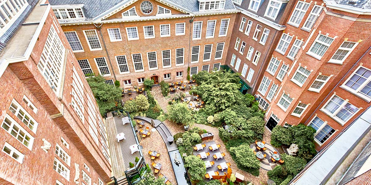 Garden Terrace View, Sofitel Legend The Grand Amsterdam, Prestigious Venues