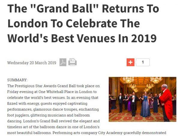The Grand Ball, Response Source, Prestigious Star Awards 2019, Press Coverage