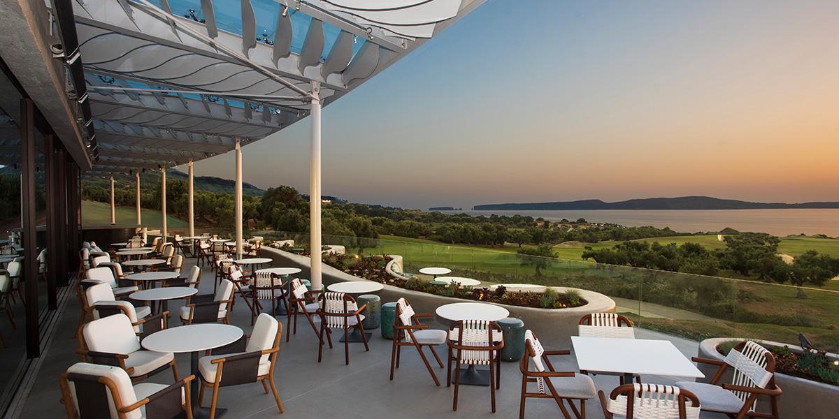 Bay Clubhouse Balcony, Costa Navarino, Prestigious Venues